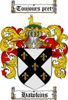HAWKINS FAMILY CREST - COAT OF ARMS