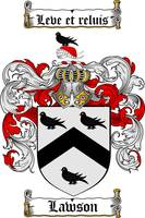 LAWSON FAMILY CREST - COAT OF ARMS