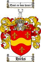 HICKS FAMILY CREST - COAT OF ARMS