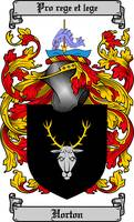 HORTON FAMILY CREST - COAT OF ARMS