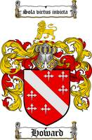 HOWARD FAMILY CREST - COAT OF ARMS