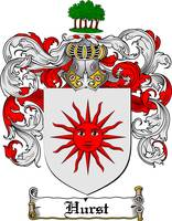 HURST FAMILY CREST - COAT OF ARMS
