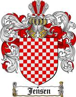 JENSEN FAMILY CREST - COAT OF ARMS