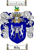 KELLY FAMILY CREST - COAT OF ARMS