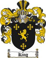 KING FAMILY CREST - COAT OF ARMS