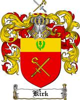 KIRK FAMILY CREST - COAT OF ARMS