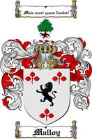 MALLOY FAMILY CREST - COAT OF ARMS