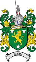 MALONE FAMILY CREST - COAT OF ARMS