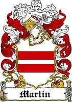 MARTIN FAMILY CREST - COAT OF ARMS
