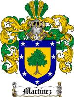 MARTINEZ FAMILY CREST - COAT OF ARMS