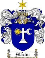 MARTIN-IRISH FAMILY CREST - COAT OF ARMS