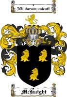 MCKNIGHT FAMILY CREST - COAT OF ARMS