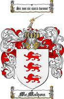 MCMAHON FAMILY CREST - COAT OF ARMS