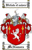 MCNAMARA FAMILY CREST - COAT OF ARMS