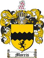 MORRIS FAMILY CREST - COAT OF ARMS