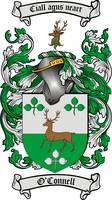 O'CONNELL FAMILY CREST - COAT OF ARMS
