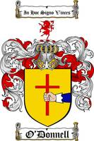O'DONNELL FAMILY CREST - COAT OF ARMS