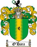 O'HARA FAMILY CREST - COAT OF ARMS