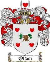 OLSON FAMILY CREST - COAT OF ARMS