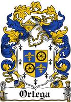 ORTEGA FAMILY CREST - COAT OF ARMS