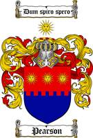 PEARSON FAMILY CREST - COAT OF ARMS
