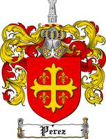 PEREZ FAMILY CREST - COAT OF ARMS