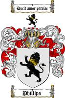 PHILLIPS FAMILY CREST - COAT OF ARMS