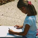 """Ashley Sketching"" by nadinerippelmeyer"