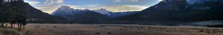 Snow Cap Mountains Panorama