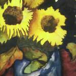 """Sunflowers"" by janporterfieldwatercolors"