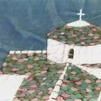 Whitewashed Church, Greece. Art Prints & Posters by Katie Art