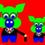 """Nice Mr. Jacob and Nice Mr. Jacob Jr."" by Lonvig"