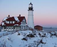 Portland Headlight Sunset