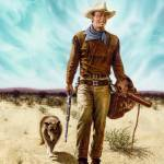 """John Wayne with Dog"" by DickBobnick"