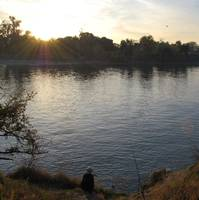 fisherman at american river park