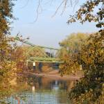 """green bridge at american river park"" by lwoodburn"