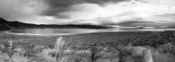 Clouds over Mono Lake B&W