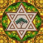 """Jewish Mandala_1"" by ravenswingstudio"