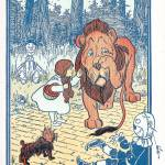 """Dorothy reprimands the Cowardly Lion"" by yesteryear"