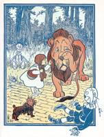 Dorothy reprimands the Cowardly Lion