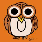 """Wide-Eyed Owl Says ""HOOT""!!"" by kristensteinfineart"