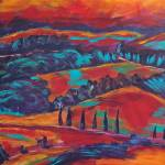 """fauvist tuscany 1"" by kristensteinfineart"