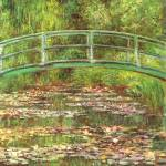 """Bridge over the sea rose pond"" by ArtLoversOnline"
