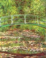 Bridge over the sea rose pond