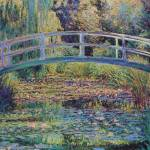 """Bridge over the sea rose pond2"" by ArtLoversOnline"