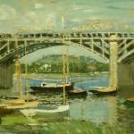 """Bridge over the Seine"" by ArtLoversOnline"