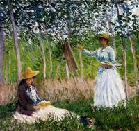 In_The_Woods_At_Giverny_Blanche_Hoschede_Monet_At_