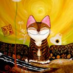 """cat-art-catmasutra-earth-5-elements"" by catmasutra"