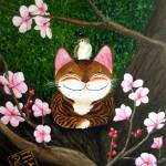 """cat-art-catmasutra-wood-5-elements"" by catmasutra"