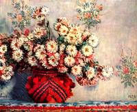 still life chrysanthemums